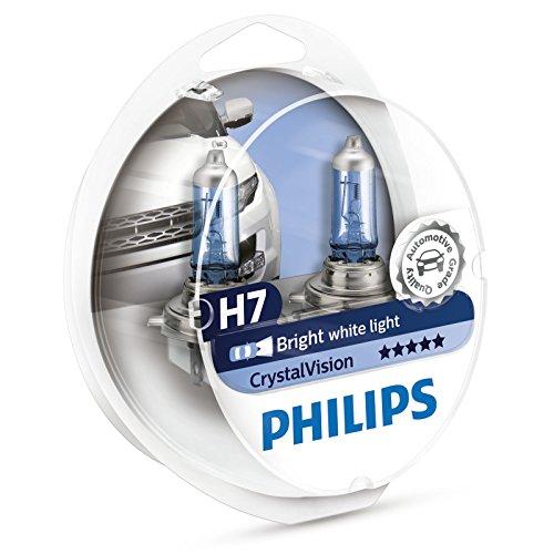 Philips Crystal Vision 4300K H7 Car Headlight Bulbs (Twin Pack of Bulbs)