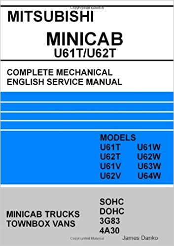 Mitsubishi minicabtownbox u61tu62t full mechanical english service mitsubishi minicabtownbox u61tu62t full mechanical english service manual james danko 9781300668152 amazon books fandeluxe Images