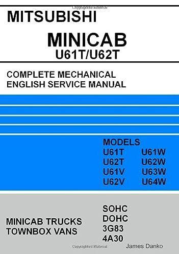 mitsubishi minicab townbox u61t u62t full mechanical english service rh amazon com 06 Mitsubishi DuroCross Wiring Diagrams Mitsubishi Radio Wiring Diagram