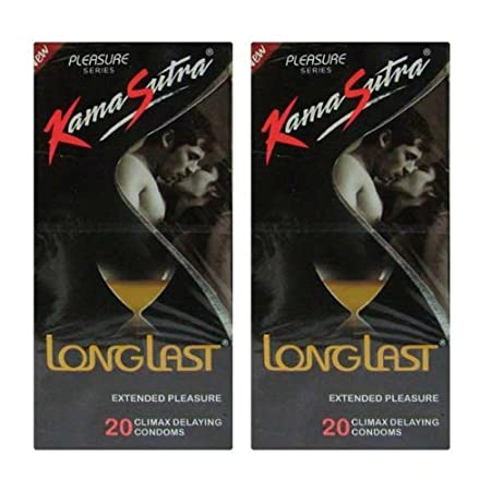 Kamasutra Long Last Condoms 20s (Combo Pack of 2) Family Planning & Contraceptives at amazon
