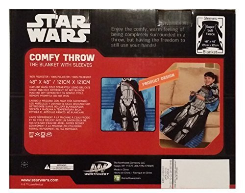 Disney Lucas Films Star Wars The Force Awakens Troop Captain Phasma Youth Comfy Throw with Sleeves, 48 by 48