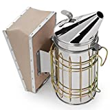 Honey Keeper Bee Hive Smoker Stainless Steel with Heat Shield Beekeeping Equipment