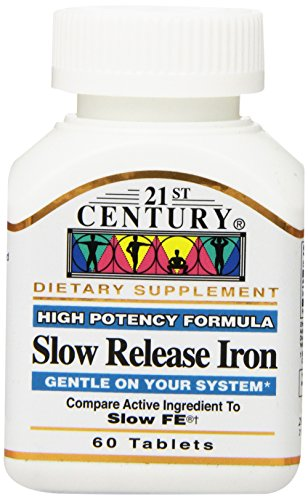 21st Century Slow Release Iron Tablets, 60 Count (Iron Tablets)