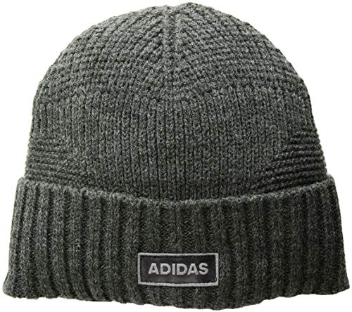adidas Men's Pine Knot Beanie, Heathered Onix, One Size
