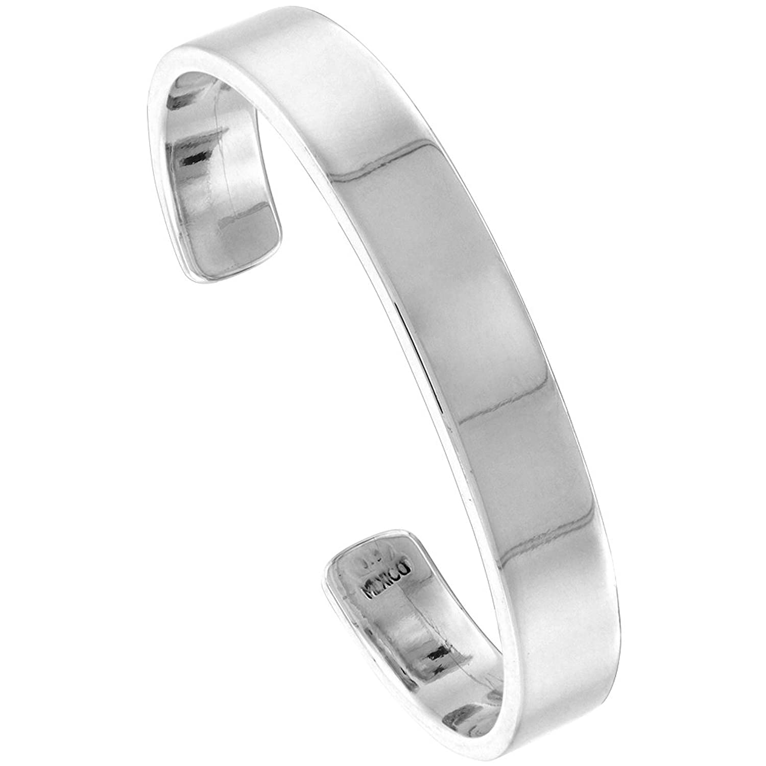 personalised bracelet sterling plain hurleyburley bangle silver charm original shop name bangles