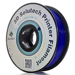 3D Solutech Navy Blue 3D Printer PLA Filament 1.75MM Filament, Dimensional Accuracy +/- 0.03 mm, 2.2 LBS (1.0KG) - 100% USA by 3D Solutech