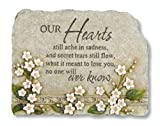 "CC Outdoor Living 10.5"" Luminous Garden Religious ""Our Hearts"" Memorial Stone with Floral Design Review"