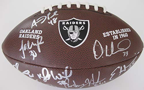 2018 Oakland Raiders, Team, Signed, Autographed, NFL Logo, Football, a COA and the Proof Photos of the Raiders Players Signing Will Be Included, Derek Carr