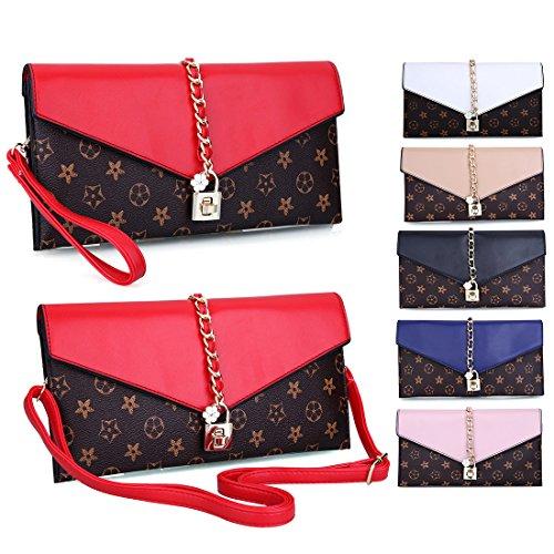 YYW pour red Pochette Evening femme Bag vxnv4SzAU
