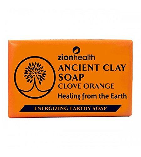 Ancient Clay Orange Clove Soap Zion Health 6 oz Bar Soap