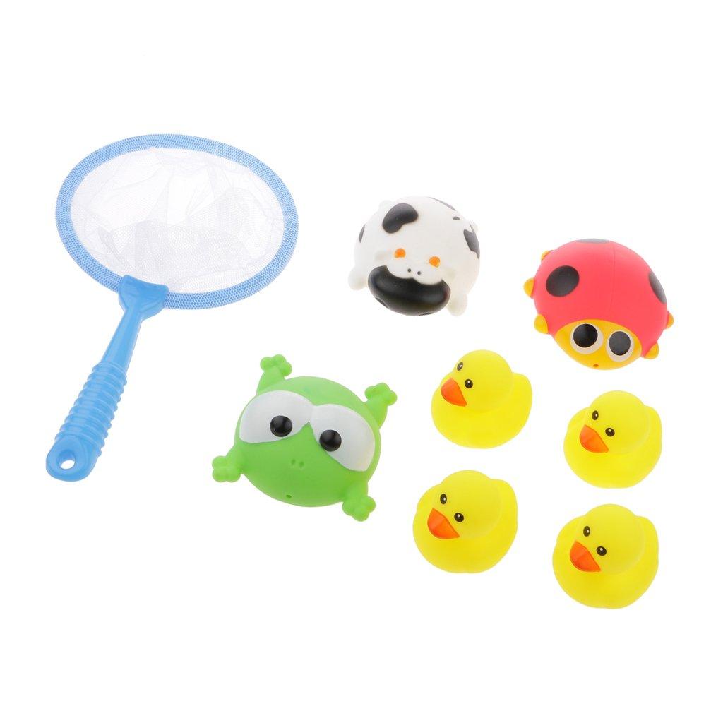 7 Pezzi Generic Gomma Di Gioco Di Pesca Del Giocattolo Momento Del Bagno Insieme Mini Cute Degli Animali