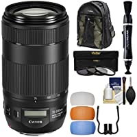 Canon EF 70-300mm f/4-5.6 IS II USM Zoom Lens with 200EG Backpack + 3 UV/CPL/ND8 Filters + Flash Diffusers + Kit