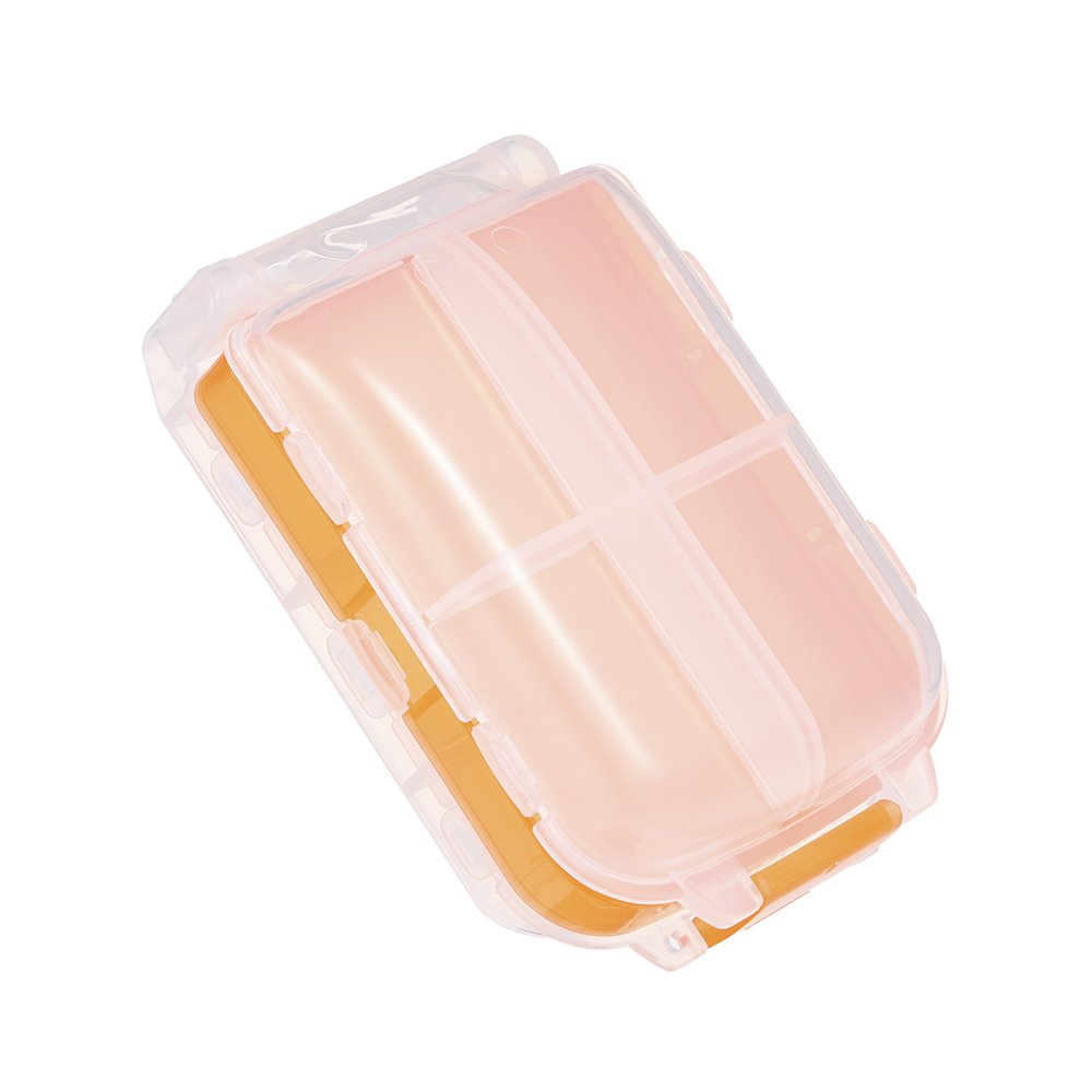 Walmeck Portable Pill Organizer Box With Splitter for Children Parents Plastic Medicine Vitamin Travel Medication Reminder Daily