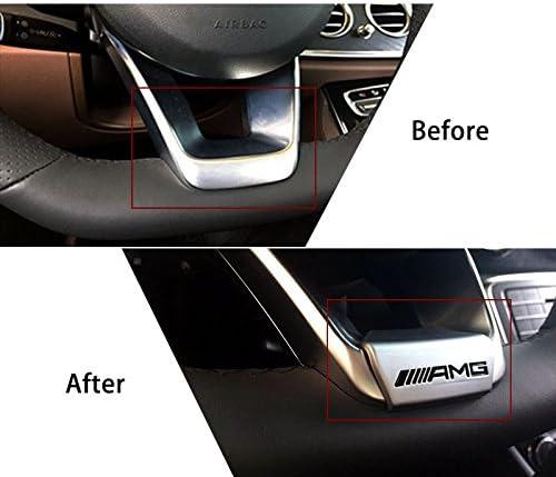 L/&U AMG Kristall-Lenkrad-Emblem-Abziehbild-Aufkleber-Abzeichen Dekoration Logo f/ür Mercedes-Benz 16 Modelle 17 Modelle E200L E300L neuen E-Klasse,Crystal Gold