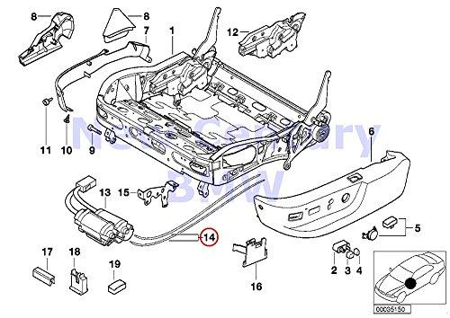 BMW Genuine Front Seat Tail Trim Set Of Flexible Shafts 740i 740iL 740iLP 750iL 750iLP 525i 528i 530i 540i 540iP M5 (Tail Shaft Set)