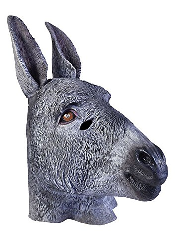 Adult Latex Donkey Mule Farm Animal Mask Costume Accessory for $<!--$29.99-->