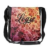 Logic RattPack Rap Hip Hop Crossbody Painting Casual Gym Travel Shoulder Bag 26 X 30 X 16 Cm