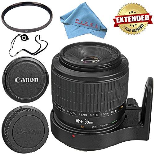 (Canon MP-E 65mm f/2.8 1-5x Macro Photo Lens 2540A002 + 58mm UV Filter + Fibercloth + Lens Capkeeper Bundle)