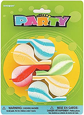 Unique Party 8816 Pack of 6 Party Bag Fillers Party Whistles