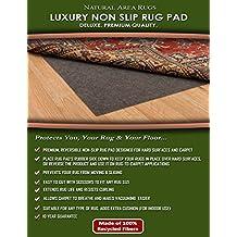 NaturalAreaRugs Luxury Non Slip Felt Rug Pad, 100% Felt with Rubber Backing, 5-Feet by 8-Feet