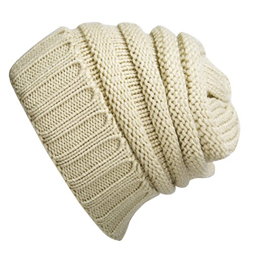 Max Costume Tutorial (WINCAN Stretch Cable Slouchy Beanie Hat Trendy Warm Chunky Soft Knit Cap (beige))