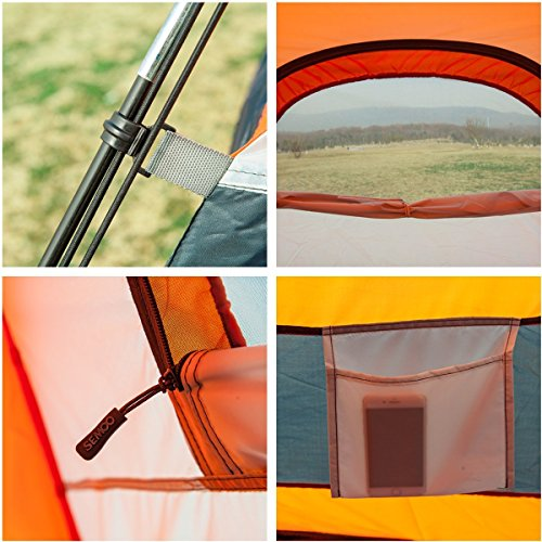 SEMOO Water Resistant ,2-3 Person,1 Door,3-Season Lightweight Tent for Camping with Carry Bag