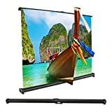 Projector Screen, Auledio Portable Manual Pull Down 50 Inch 16:9 Movie Projection Screens for Home Cinema, Office, Outdoor Travel