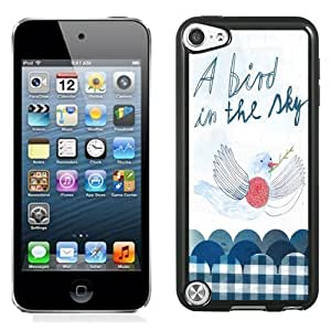 New Personalized Custom Designed For iPod Touch 5th Phone Case For A Bird In The Sky Doodle Phone Case Cover Kimberly Kurzendoerfer