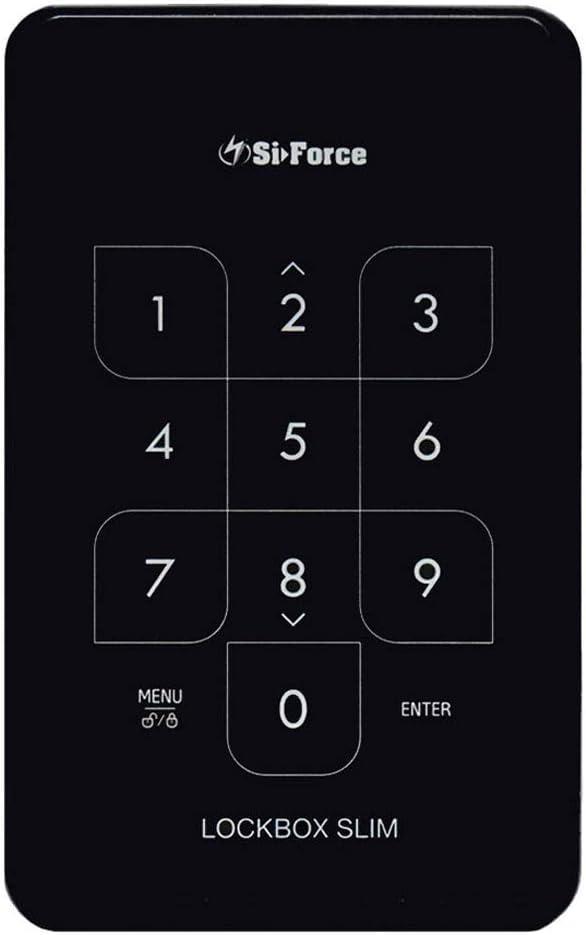 SiForce Lockbox Slim 1TB Encrypted USB Drive + SiForce Portable External Hard Drive Case