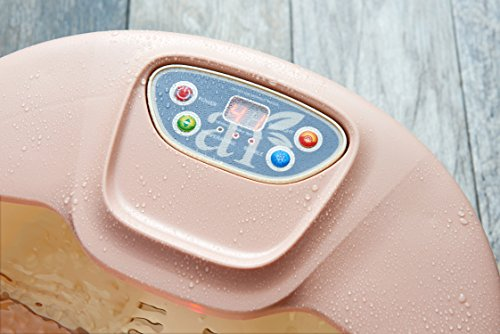 ArtNaturals Foot Spa Massager with Heat - Lights and Bubbles - Soothe and Relax Tired Feet with All in One Therapeutic Home Salon and Massager Tub - Temperature Control - for Athletes Foot