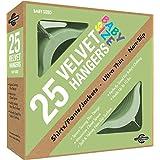 Closet Complete Baby Velvet Ultra Thin No Slip Hangers, Green, Set of 25