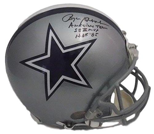 Roger Staubach Autographed Dallas Cowboys Proline Helmet 3 Insc (Replica Pro Line Helmet)