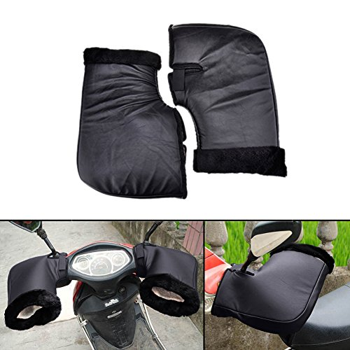 Motorcycle Electrombile Handlebar Protective Gloves Winter Thicker Windproof Waterproof Thermal Warm Handlebar Gloves Large Mouth Cuff