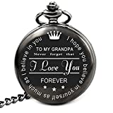 LEVONTA to My Grandpa Pocket Watch Gifts from Granddaughter to Grandpa Gifts from Grandson (to My Grandpa)