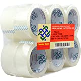 """Double Bond 12 Rolls Real Thick (3.1 Mil) Commercial Grade Heavy Duty Packing Tape, 1.88""""x54.6 Yds (48mm x 50m), Clear (1731-12)"""