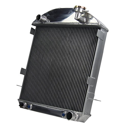Primecooling 3 Row Core Full Aluminum Radiator for Ford Model TT/ Model T ,T-BUCKET W/ CHEVY CONFIGURATION 1917-27 W/ TRANS COOLER (T Radiator Bucket)