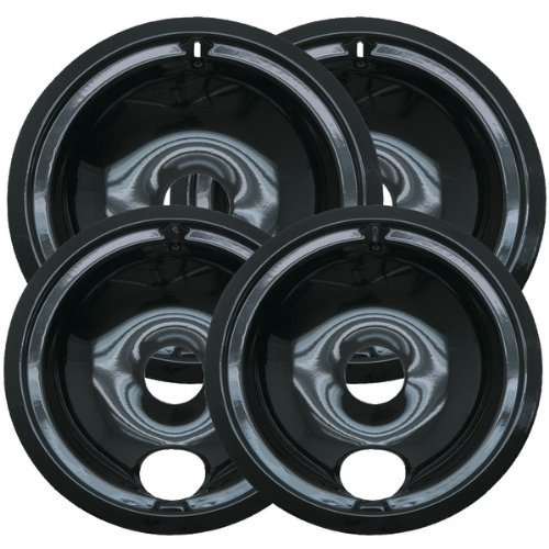2 of WB31M20 and 2 of WB31M19 GE Range Cooktop Porcelain Drip Pan Bowls Model: WB31M19 & WB31M20 2 - Range Black Hotpoint
