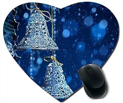 CYBER MONDAY 2015 feliz año nuevo ratón cordiforme campanas de Navidad antideslizante ratón almohadillas casarías regalo de Navidad: Amazon.es: Electrónica