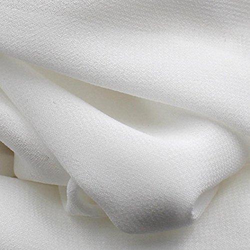 Sin Blanco Fiesta LuckyGirls Playa de Noche Mujer Vestido Vestido Sólido Elegante ❤️ de Manga Color Gasa Falda Encaje Sexy wwXY4U
