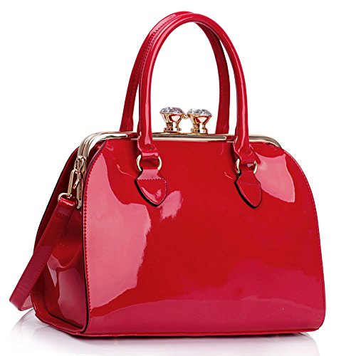 L AND S, Borsa a spalla donna rosso Red