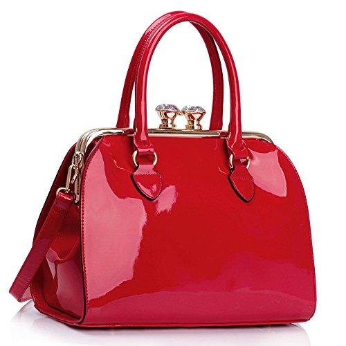 L AND S, Borsa a spalla donna rosso Red
