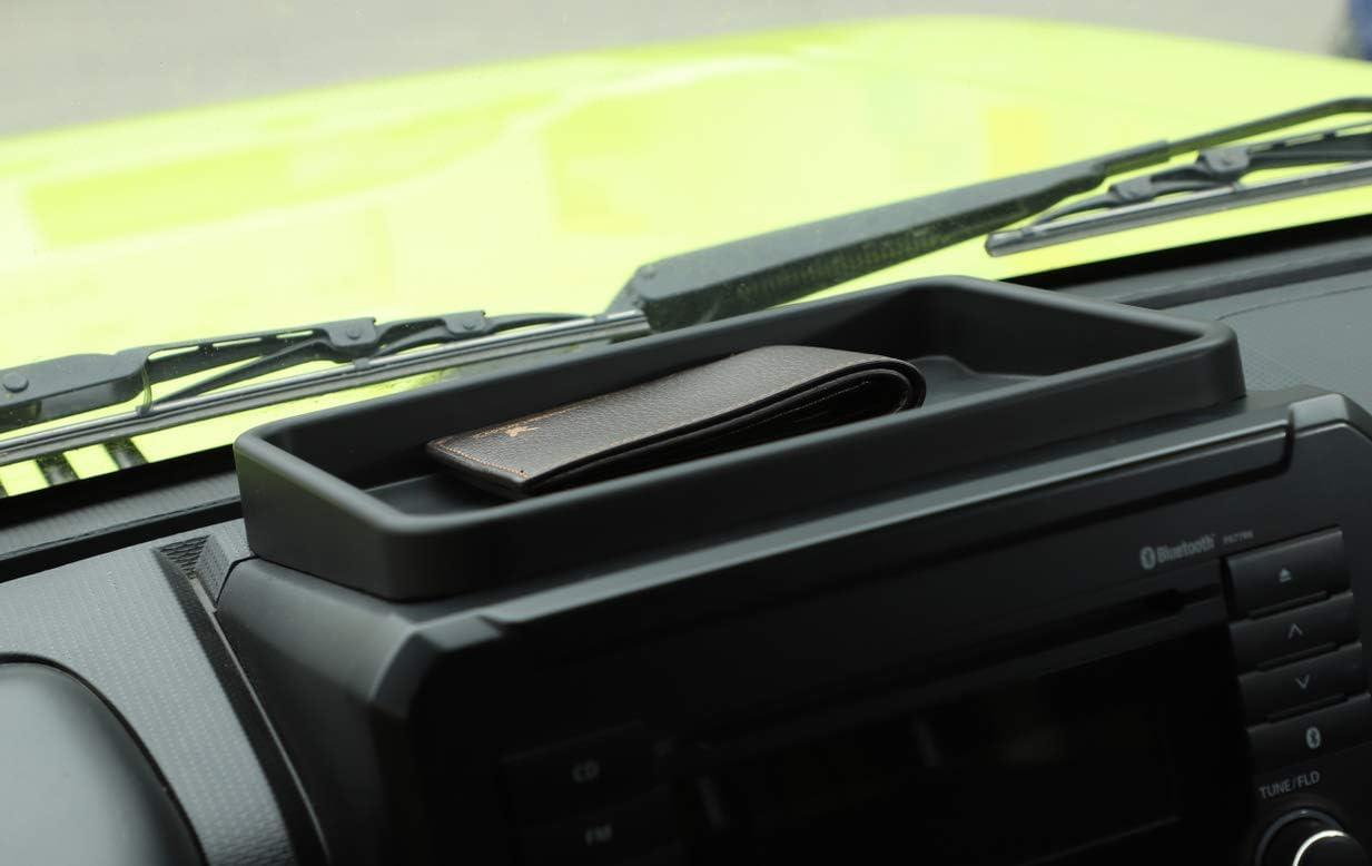 Vpcar Jimny Caja de almacenamiento para consola central de coche color negro ABS bandeja organizadora para Suzuki Jimny 2019-2020