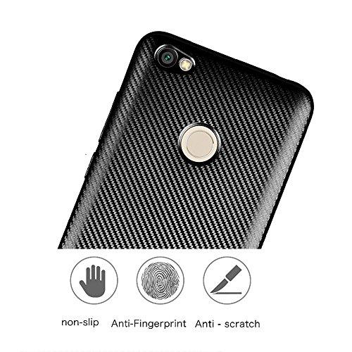 YAJIE-Carcasa Funda Para Xiaomi Redmi Note 5A Case, delgado de fibra de carbono de goma suave TPU híbrido a prueba de golpes cubierta de la caja para Xiaomi Redmi Note 5A Pro / Redmi Note 5A ( Color : Gold