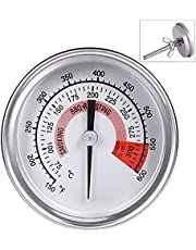 Ecloud ShopCA BBQ Temperature Gauge Barbecue Thermometer Charcoal Smoker Gas Grill Accurate High Temperature Anti-Foggy Smoker Grill Temperature Gauge Temp Kitchen Cooking
