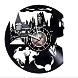 Cheap Harry Potter – Vinyl Record Wall Clock – Poster – Stuff – Decal – Hogwarts – Get unique kids room wall decor – Gift ideas for boys and girls, teens, friends – Unique Art Design of Magic Wizards World