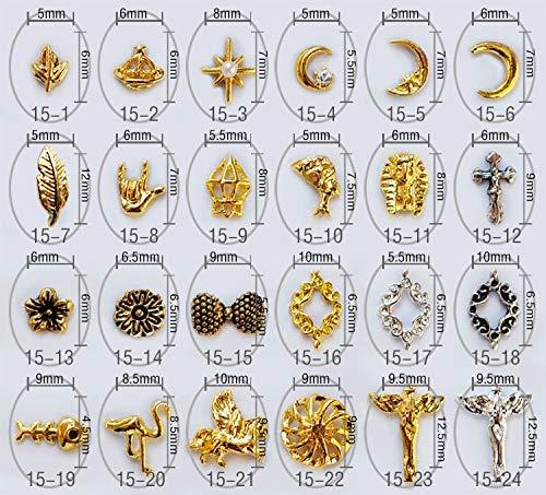 Kamas 100pcs/bag New Japan Kawaii Pharaoh,Leaf,Bow Charm 3D Nail Art Jewelry Nail Tips Decoration DIY Nail Tools - (Color: 1521) ()