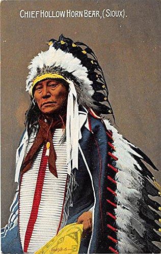 Chief Hollow Horn Bear, Sioux Indian Postcard (Hollow Bear)