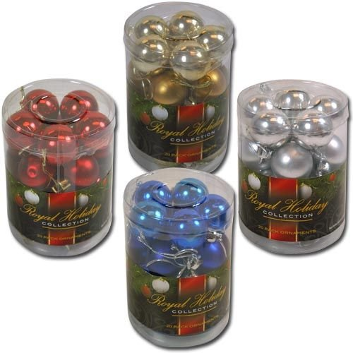 Solid Colored Shatterproof 20pk 30mm Christmas Balls in PVC Canister (Silver), Health Care Stuffs