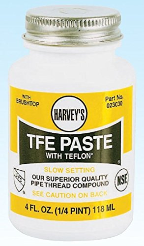 (Harvey 23030 Oatey 0 Pipe Thread Compound, 4 Oz, Brush top Plastic Jar, Liquid Paste, 1/4 Pint, White)