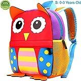 Toddler Backpack for Boys and Girls - Kids Preschool Kindergarten Bags with Cute Owl Animal Cartoon Design